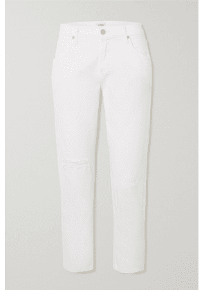 Citizens of Humanity - Emerson Distressed High-rise Boyfriend Jeans - Ivory