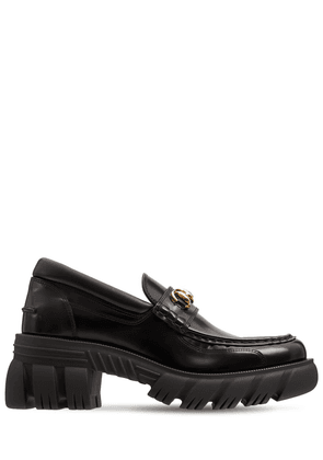 40mm Romance Brushed Leather Loafers