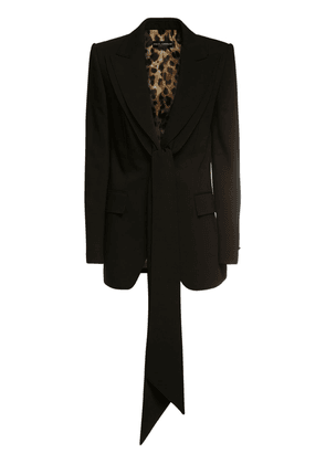 Tailored Stretch Wool Jacket
