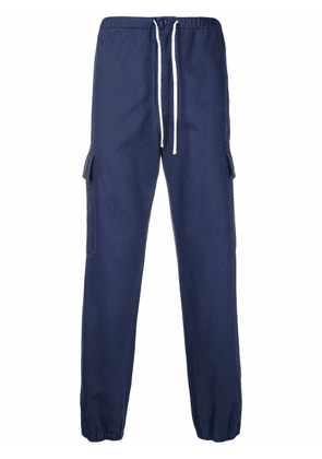 Gucci logo patch cargo trousers - Blue