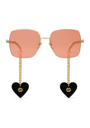 Gucci Les Pommes sunglasses with heart charms