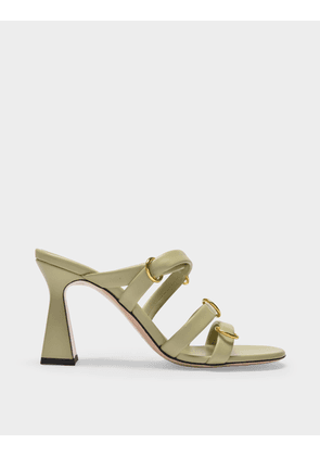 Wandler Lara Sandals in Minty Green Leather