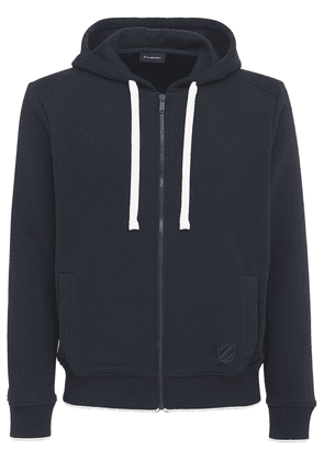 Z Embroidery Cotton Blend Zip Hoodie