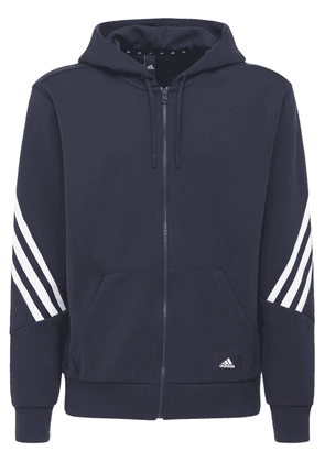 3 Stripes Hooded Cotton Blend Track Top