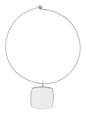Glass Square Charm 5 Collar Necklace