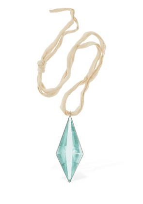 Glass Prism Charm 1 Long Necklace