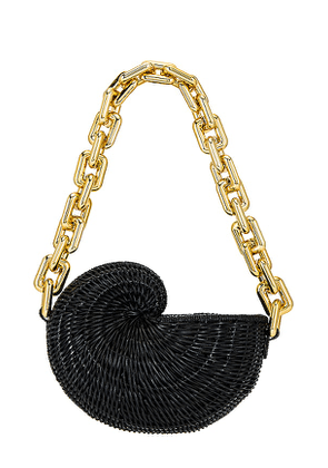 Poolside X REVOLVE The Conch Clutch in Black.