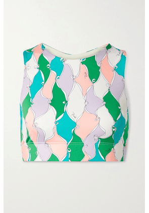 Emilio Pucci - + Net Sustain Printed Recycled Stretch Sports Bra - Green