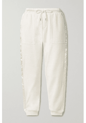 ATM Anthony Thomas Melillo - Satin-trimmed French Cotton-terry Track Pants - Cream