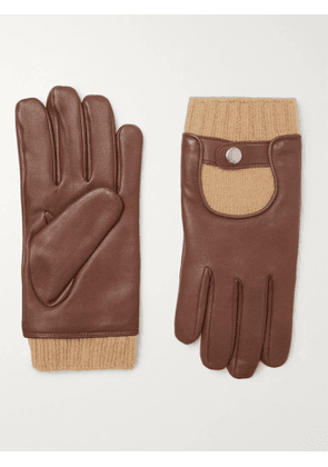 Mulberry - Cashmere and Leather Gloves - Men - Brown - 8