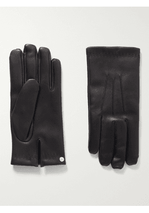 Mulberry - Cashmere-Lined Leather Gloves - Men - Black - 8