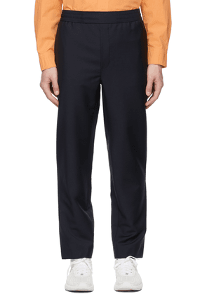 Acne Studios Navy Mohair Casual Trousers