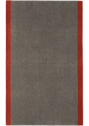 Cleverly Laundry Grey & Red Large Towel