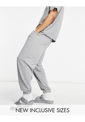 ASOS DESIGN co-ord oversized joggers in grey marl pique