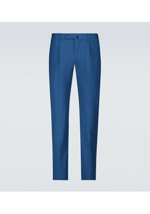 Stretch-cotton casual pants