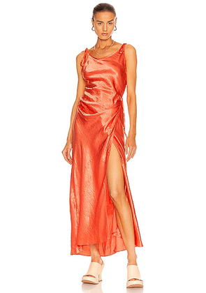 Acne Studios Dayla Dress in Coral Red - Coral. Size 40 (also in 34, 36).