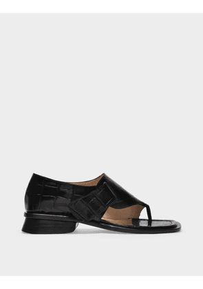 Maryam Nassir Zadeh Thompson Sandals in Black Leather
