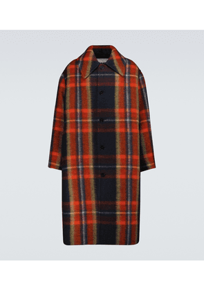Checked wool sport coat