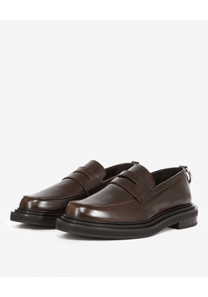 The Kooples - Brown moccasins in leather - MEN