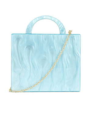 8 Other Reasons Cube Tote Bag in Blue.