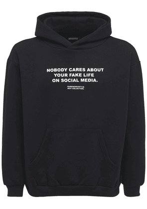 Nobody Cares Cotton Blend Hoodie