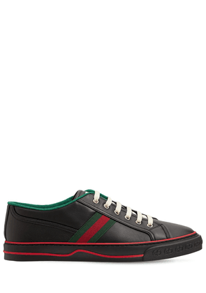Web Leather Low Top Tennis Sneakers