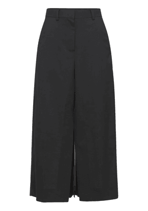 Wool Suiting Mix Skirt W/ Front Slit