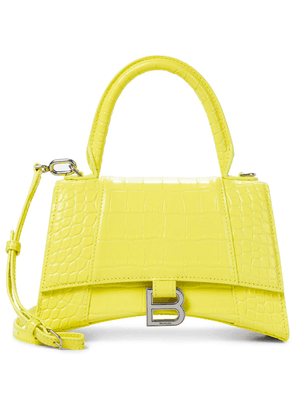 Hourglass Small croc-effect leather tote