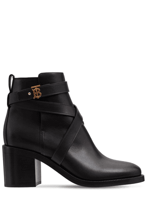 70mm New Pryle Leather Ankle Boots