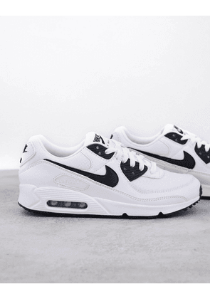 Nike Air Max 90 trainers in white and black