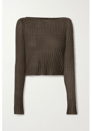 ATM Anthony Thomas Melillo - Cropped Ribbed Wool Sweater - Army green