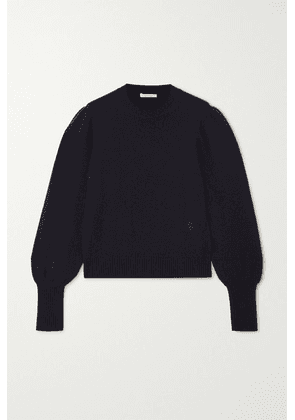 Chloé - Embroidered Cashmere Sweater - Navy