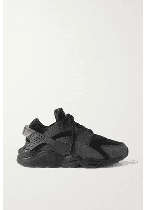 Nike - Huarache Og Textured-leather, Mesh And Rubber Sneakers - Black