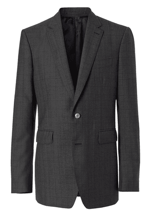 Burberry Classic Fit Check Wool Three-piece Suit - Grey