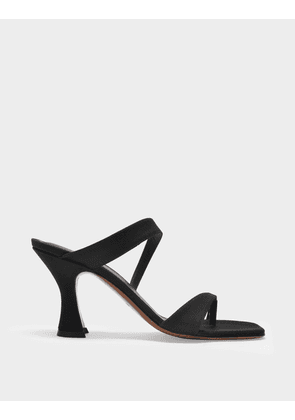 Neous Sika Sandals in Black Grosgrain Smooth Leather