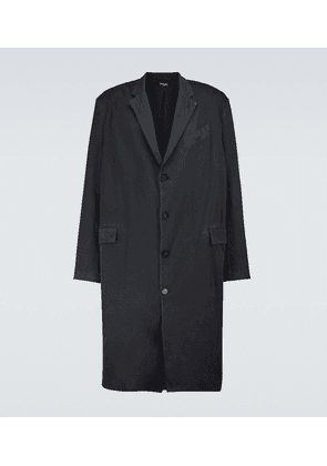 Faded tailored cotton coat
