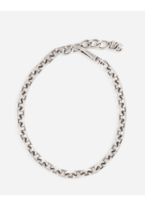 Dolce & Gabbana Bijoux - Antiqued silver link necklace Silver male OneSize