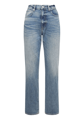 London High Rise Straight Cotton Jeans