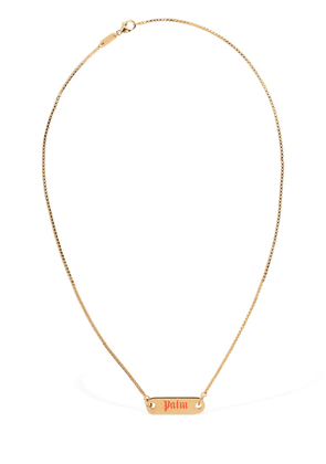 Logo Plate Necklace