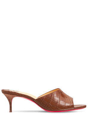55mm East Croc Embossed Leather Mules