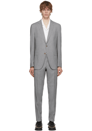 Boss Grey Micro-Patterned Slim-Fit Suit