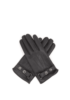 Alexander Mcqueen - Cashmere-lined Leather Gloves - Mens - Black