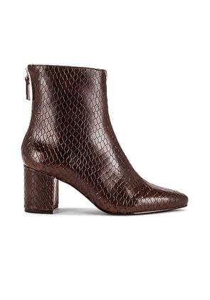 RAYE Halo Bootie in Brown. Size 10.