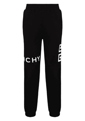 Givenchy 4G logo tapered trackpants - Black