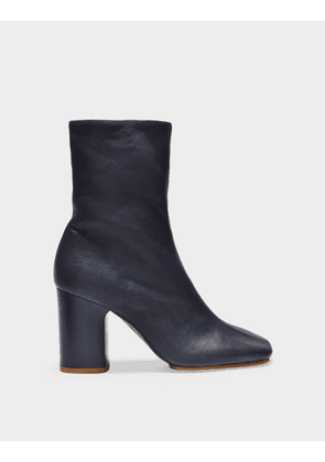Acne Studios Bathy Grain Ankle Boots in Blue Leather