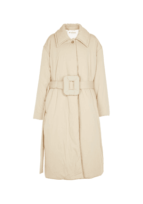 Padded cotton-blend trench coat