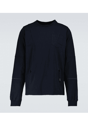 Knitted cotton crewneck sweater