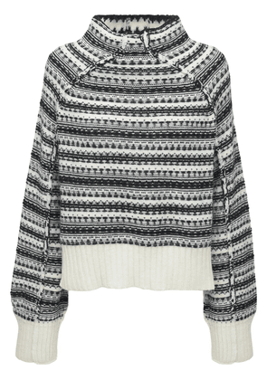 High Low Acrylic Blend Knit Sweater
