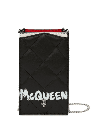 Quilted Leather Phone Case W/ Chain