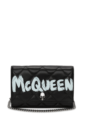 Small Skull Graffiti Quilted Leather Bag